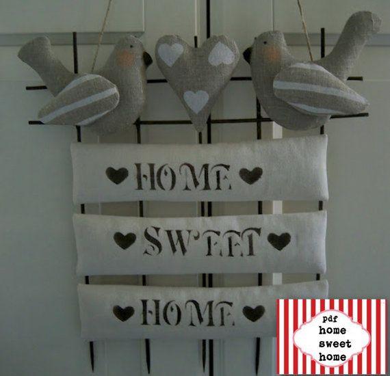Дом, милый дом patternlovely птицы diyPDF по lauracountrystyle, € 7.50