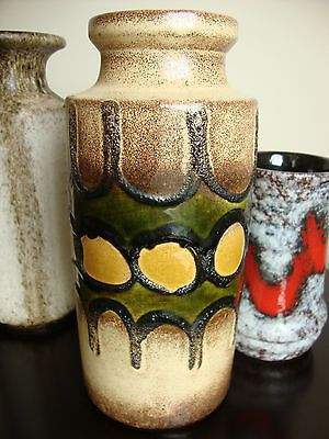 Mid Century Modern German Fat Lava Art Pottery Vase w Germany | eBay