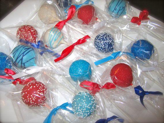 Red White And Blue Cake Pops Recipe — Dishmaps