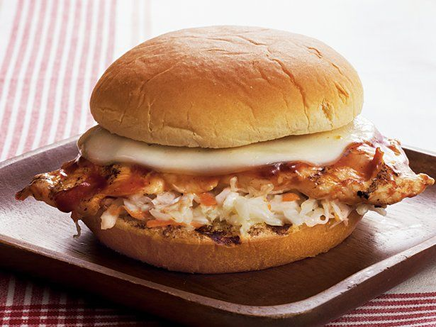 Barbecue Chicken Sandwiches - Coleslaw and barbecue sauce give grilled ...