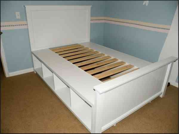 storage bed frame queen diy | For Hannah | Pinterest