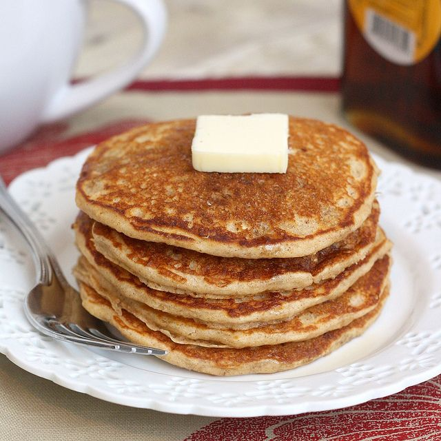 Whole Wheat Oatmeal Pancakes by Tracey's Culinary Adventures, via ...