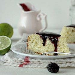 Lime Cake with Blackberry Sauce | sweet treats | Pinterest