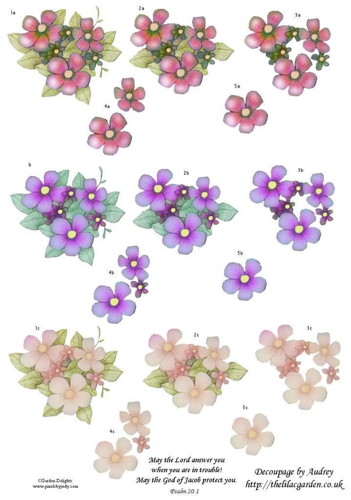 Free+3D+Decoupage Free Decoupage Sheets | 3d Floral | Pinterest
