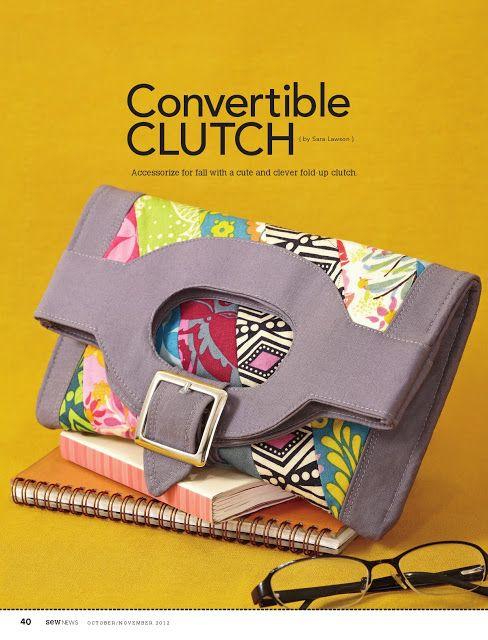 Sew Sweetness: Tutorial: Sew News Convertible Clutch