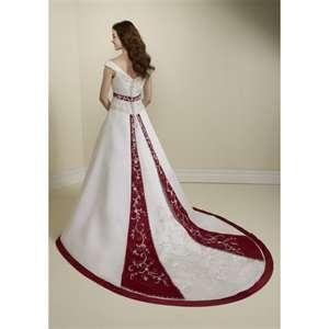 red trim wedding dress wedding dresses pinterest