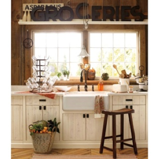 Kitchen cabinets cream amd distressed kitchen pinterest - Cream distressed kitchen cabinets ...