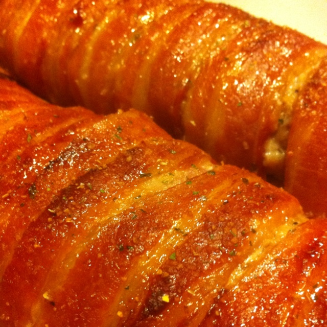 bacon wrapped maple pork loin recipe yummly bacon wrapped maple ...