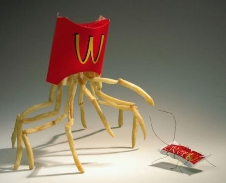 "Mc Crab - wonder why the don't sell those ""out of the box"" #food #fun"