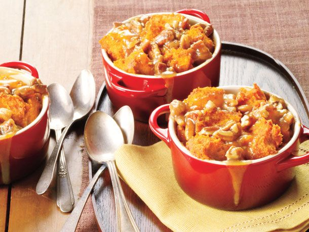 Spiced Caramel-Apple Bread Pudding | Recipe