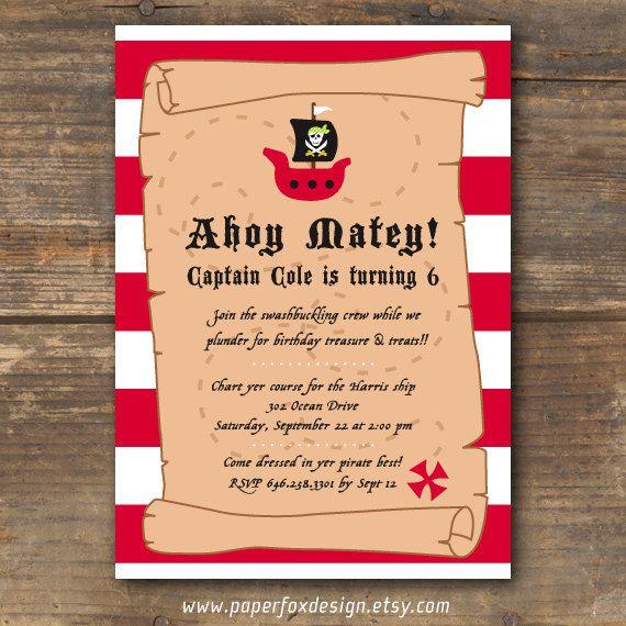 ahoy matey invitations