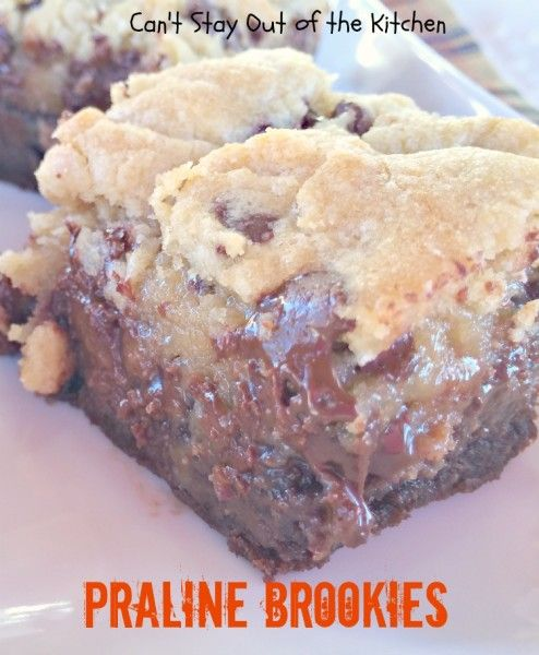 Praline Brookies - IMG_3977 | Recipes - Brownies Bars and Squares | P ...