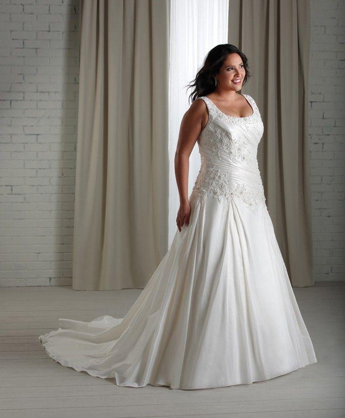 ... robe de mariage en taffetas  Robe de mariée grande taille