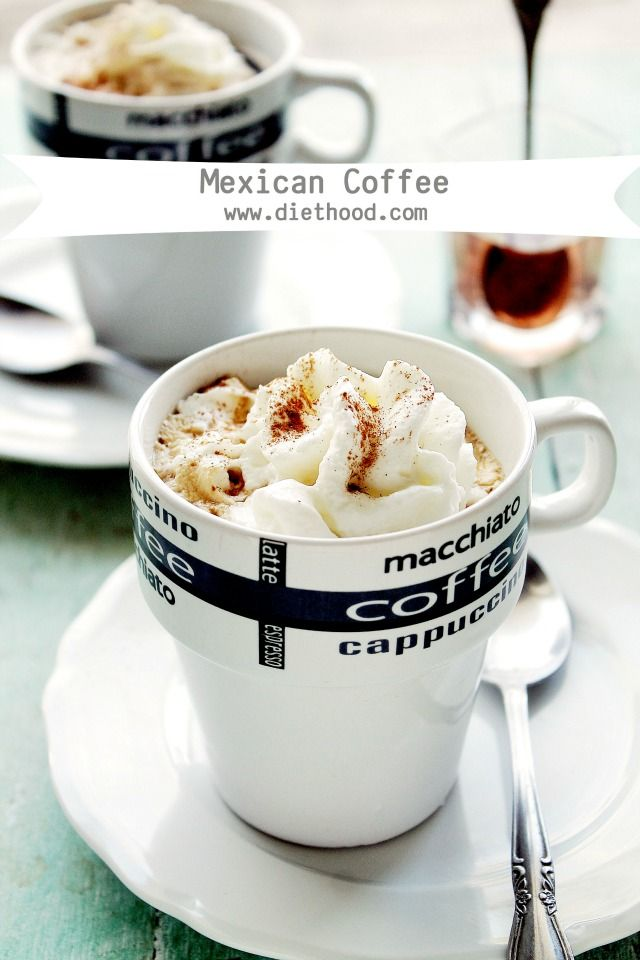 Mexican Coffee | www.diethood.com | Delicious and warm Mexican Coffee ...