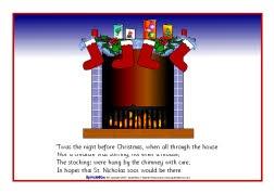 Twas the Night Before Christmas visual aids (SB1064) - SparkleBox