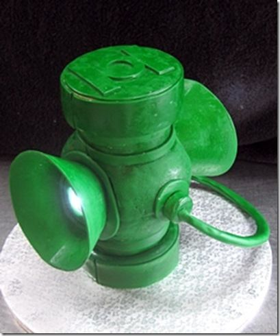 Green Lantern Cake  I would have to do it in foam