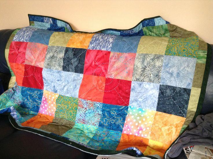 Simple first quilt | Quilt patterns | Pinterest