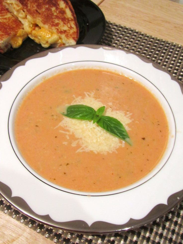 Slow Cooker Tomato Basil Soup | All Things Yummy | Pinterest