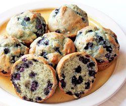 Sour Cream Blueberry Muffins (vegan)