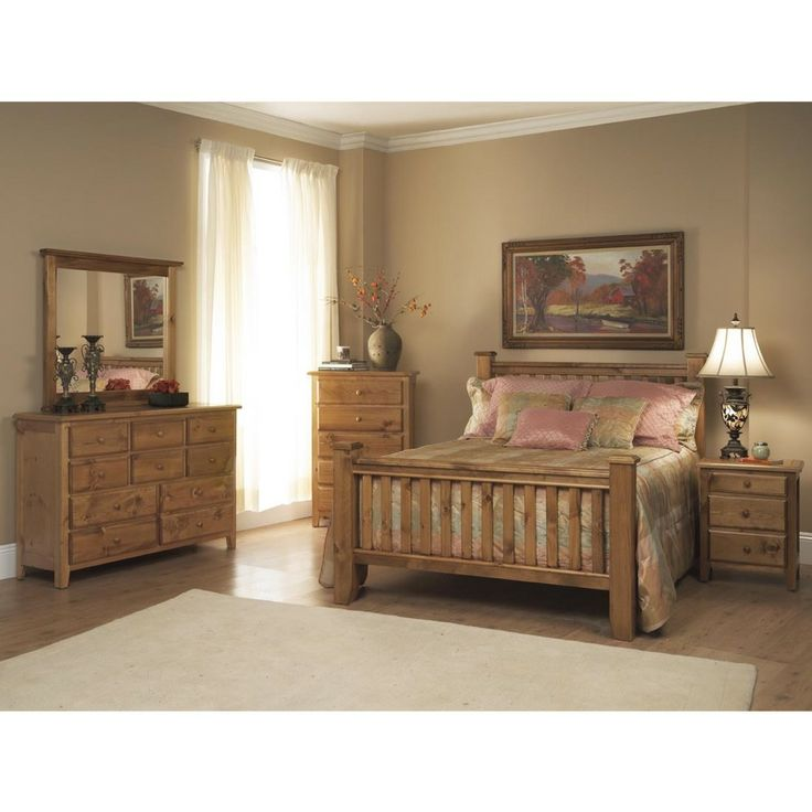 Emerald Pine Creek Rustic 5 Piece Bedroom Set