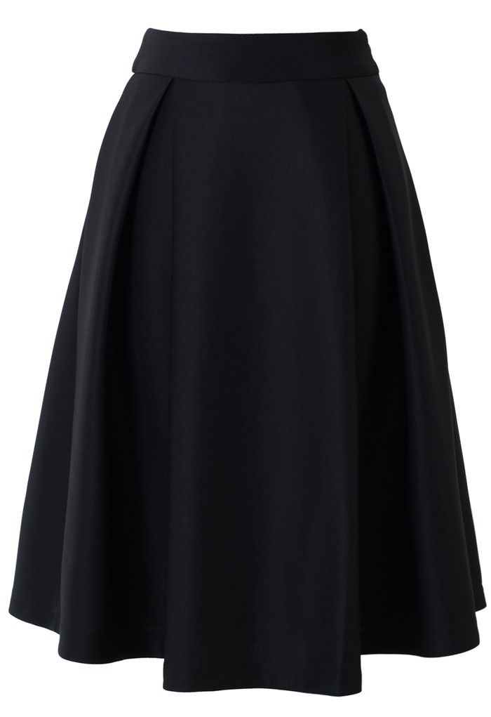a line midi skirt in black clothes shoes