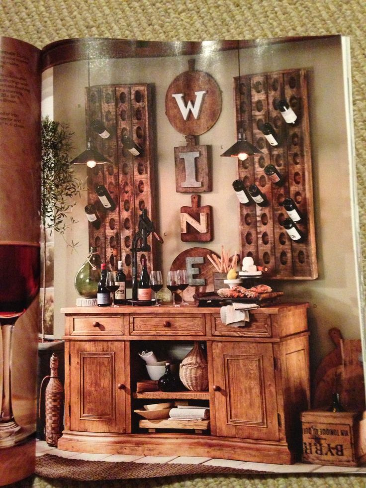 Wine bar potterybarn luxury lifestyle dream decor for Bar dekoration