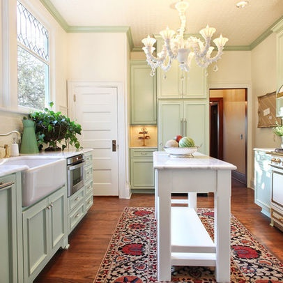 Mint green kitchen love this color