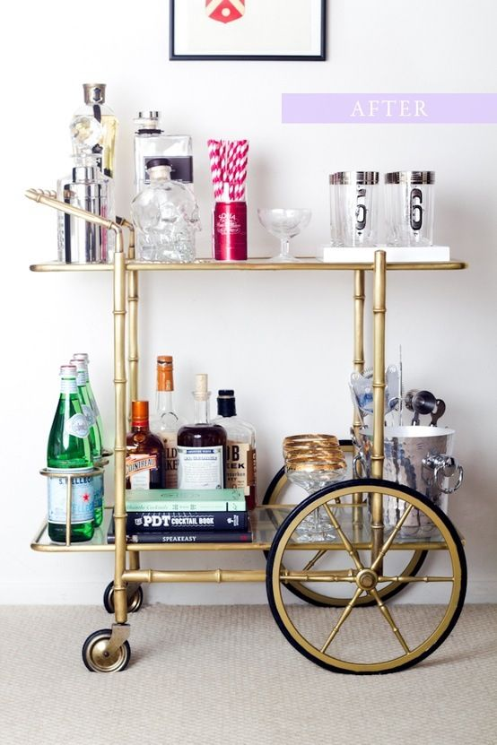 Lovely Gold Bar Cart Raise Your Glass Pinterest