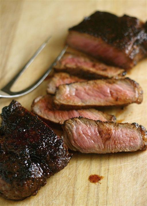 Coffee Rubbed Steaks Recipe — Dishmaps