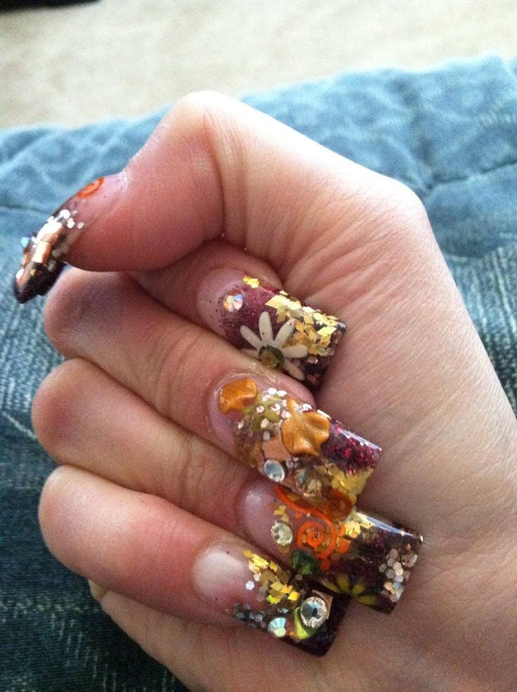 3D Thanksgiving Nails By: Doris | Nails | Pinterest