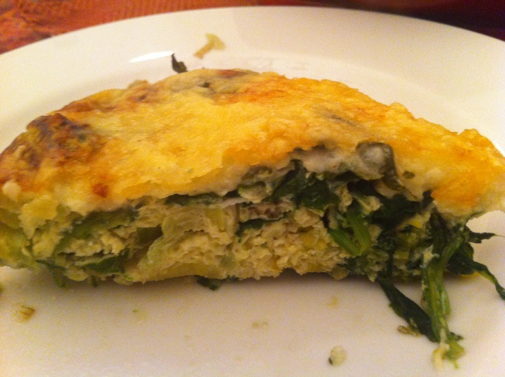 New for 2013 - Potato, leek, spinach frittata with gruyere and swiss ...