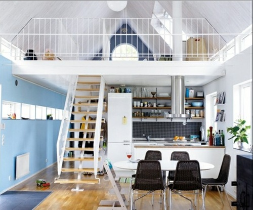 small apartment ideas (love this open space)