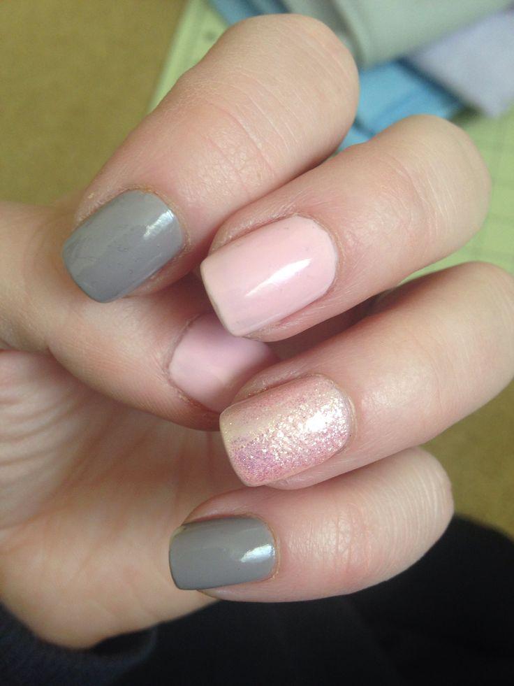 Pink and grey nails | Nail desings | Pinterest