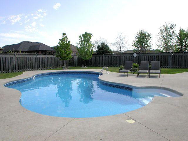 32 39 salt water in ground pool backyard fun zone pinterest for Salt water pool