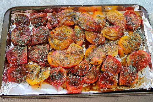 Slow roasted heirloom tomatoes. Make these! The best BLT ever. I used ...