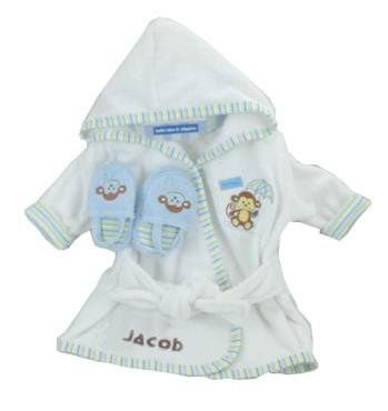 Gift Sets  Baby  on Personalized Bathrobe And Slipper Gift Set         Baby Boy Gift Sets