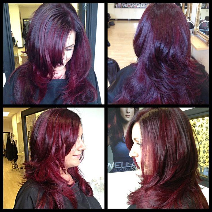 Black cherry hair color wella