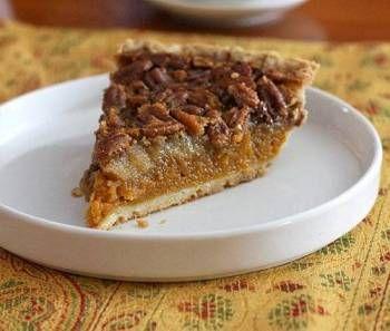 Pumpkin Pecan Pie with Bourbon Butter Sauce - I'll sub sweet potato