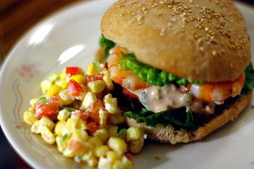 Shrimp Remoulade Po'boy with Corn Salad   Foodie ~ Recipes ~ Good Eat ...