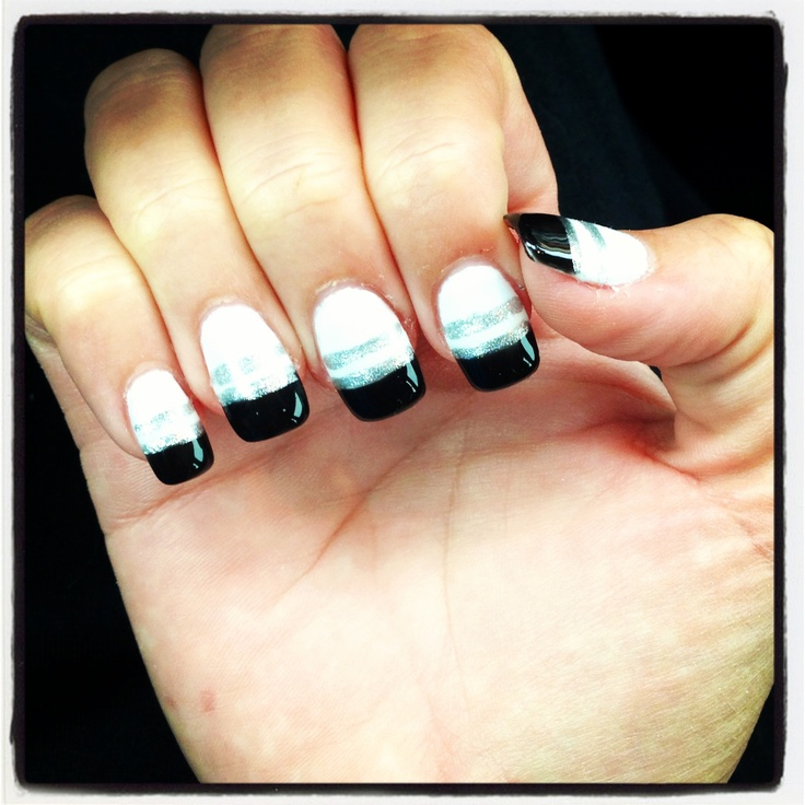 black shellac nail design nails pinterest