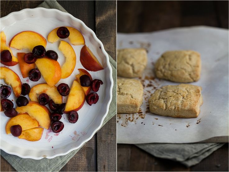 Roasted Peach and Cherry Einkorn Shortcake. This sounds so heavenly ...