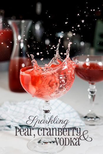 Sparkling pear, cranberry | Yummy Drinks! | Pinterest