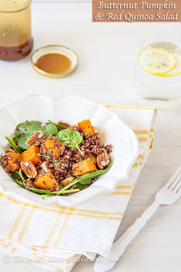 Roasted Butternut Pumpkin and Red Quinoa Salad