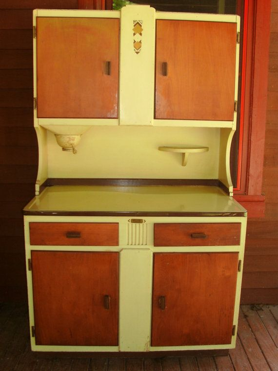 Sellers Hoosier Cabinet Cupboard With By AuntiesCabin Sellers