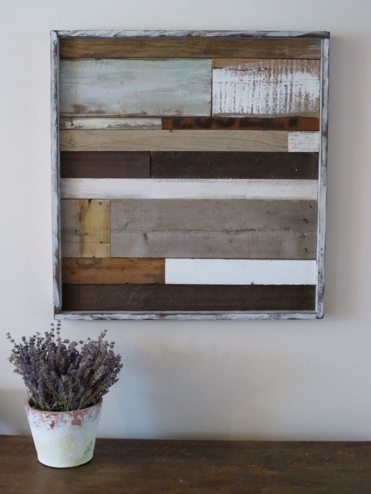 Reclaimed wood art rustic wood art shabby chic cottage for Wood wall art