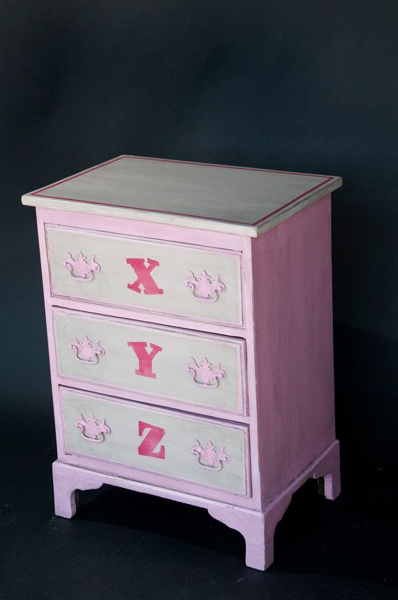 Furniture 2. Baby Girl Chest of Drawers on Etsy, $450.00