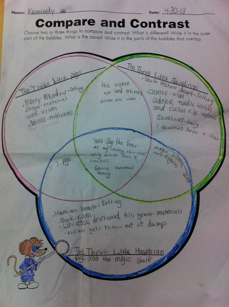 compare and contrast character essay examples