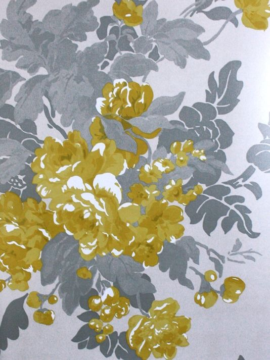 Pin by kimberly spicer on wallpaper pinterest - Gray and yellow wallpaper ...