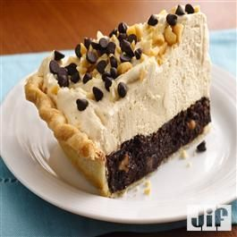 Mile-High Peanut Butter-Brownie Pie from Jif® | Pies | Pinterest