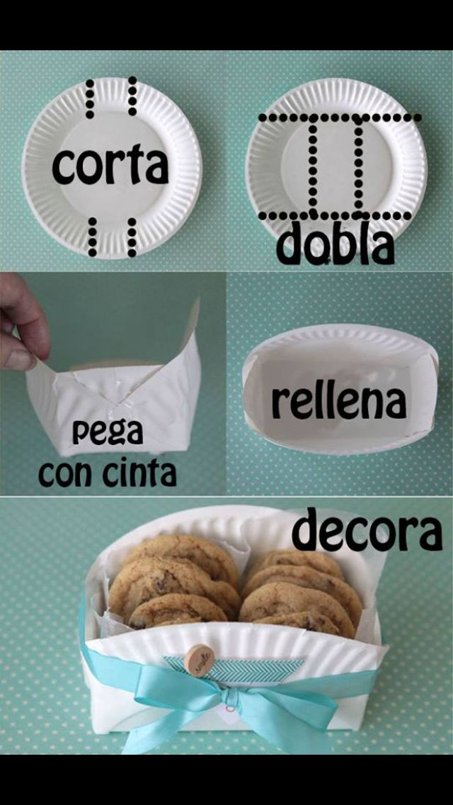 Juegos De Baños Que Vuelan:DIY Paper Plate Cookie Box